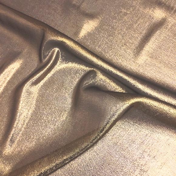 silk gold lame fabric, silk gold metallic fabric