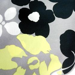 Printed Silk charmeuse Fabric, Floral Print, EZ-20401-1174