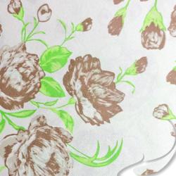 Printed Silk Charmeuse Fabric, Floral Print, EZ-20401-1194