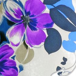 Printed Silk Charmeuse Fabric, Floral Print, EZ-21001-1128