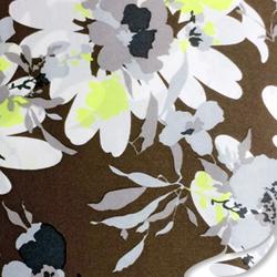 Printed Silk Charmeuse Fabric, Floral Print, EZ-21001-1130