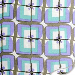 Printed Silk Charmeuse Fabric, Geometric Print, EZ-21001-1143