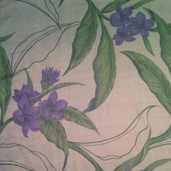 "Printed Silk Iridescent Chiffon, Floral Print, 6mm, 45"""