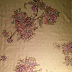 "Printed Silk Y/D Iridescent Chiffon, Paisley Floral Print, 6mm, 45"""
